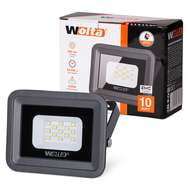 Светодиодный прожектор 10Вт Wolta WFL-10W/06 5500K 10W SMD IP65 цвет серый, слим